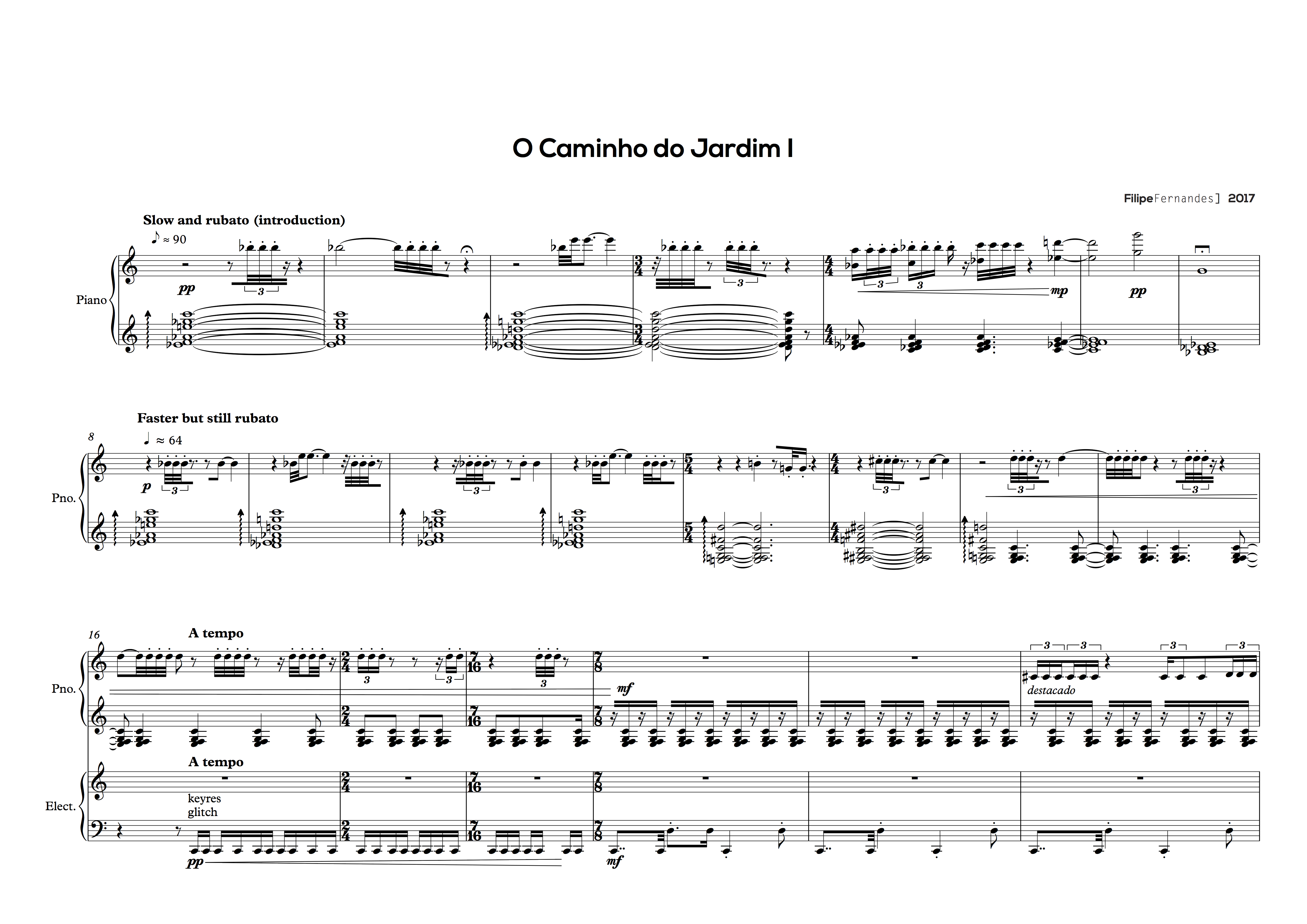 Transcription, Score Editing and Arrangement